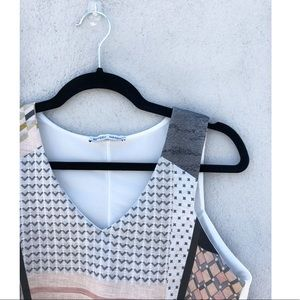 0005- Zara gold and white crop top